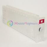 Перезаправляемый картридж (ПЗК/ДЗК) для Epson SureColor SC-T3200, SC-T3000, SC-T5200, SC-T7000, SC-T7200, SC-T5000, Magenta, с одноразовым чипом (сменным), 700 мл, 1 штука