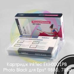 Черный картридж для Epson Stylus Pro 9880, 7880 (Photo Black) с чипом (T6031 / C13T603100), 220 мл, совместимый InkTec