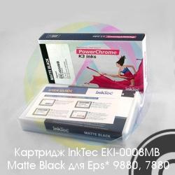 Матовый черный картридж для Epson Stylus Pro 9880, 7880 (Matte Black) с чипом (T6038 / C13T603800), 220 мл, совместимый InkTec