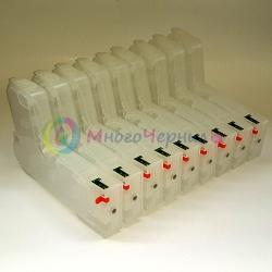 Перезаправляемые картриджи (ПЗК/ДЗК) для Epson SureColor SC-P800, автоматически обнуляемые, Eurogun, 9 х 280 мл.