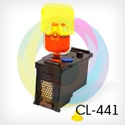 Перезаправляемый картридж BURSTEN King Canon CL-441 цветной для MG3140, MX514, MG3640, MG4140, MG3540, MG2240, MG3240, MG4240, MG2140, MX374, MX434, MX474 Tri-colour (для заправки PUSH-контейнерами), заправленный