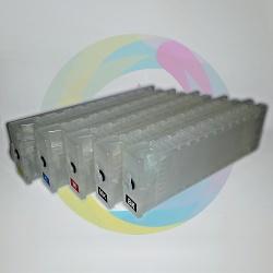 Перезаправляемые (дозаправляемые) картриджи (ПЗК) для Epson SureColor SC-T3000, T5000, T7000,  SC-T3200, T5200, T7200, без чипов, 700 мл, 5 шт