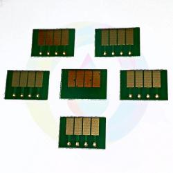 Чипы для картриджей (ПЗК/ДЗК) HP 72 для DesignJet T790, T795, T610, T2300, T770, T1300, T1200, T1120, T620, T1100 (авто обнуляемые), зависимые, 6 шт.