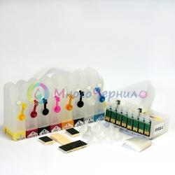 СНПЧ для EPSON Stylus Photo R1900, с кнопкой сброса, 8 цветов
