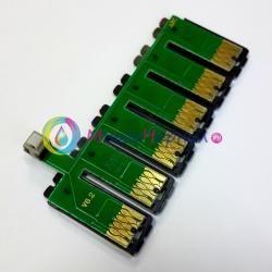 Чип для СНПЧ к Epson Artisan 730, 837, 835, 800, 710, 700, 810, 725 (T0981-T0986), с кнопкой сброса, планка чипов