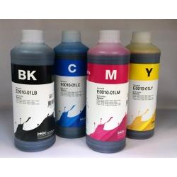 Чернила для Epson L210, L110, L100, L120, L355, L200, L250, L300, L350, L456, L550, L555, L1300, L3050, L3060, L3070, ET-4550, ET-4500, ET-2550, ET-2500, R240, R245, R250, RX420, R430, RX520 (T6641-T6644), InkTec E0010, водные, 4 х 1 литр