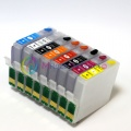 Перезаправляемые картриджи (ПЗК) для EPSON Stylus Photo R2000, 8 шт, с чипами