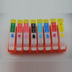 Перезаправляемые картриджи (ПЗК) для Canon PIXMA Pro-100, Pro-100S (CLI-42), без чипов, 8 шт.