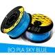 PLA пластик небесно-синий (Sky Blue) для 3D-принтеров на катушке (фирменный BQ, диаметр нити 1,75 мм, 1 кг)