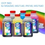 Чернила OCP для Canon PIXMA MG6340, MG7140, IP8740, MG7540, пигментные + водные, комплект 6 x 1000 гр