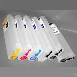 Перезаправляемые картриджи (ПЗК/ДЗК) для HP DesignJet T1500, T920, T2530, T1530, T2500, T930, T3500 (comp. HP 727, 764), без чипов, 6 x 260 мл