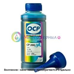 Чернила голубые (Cyan) OCP для Epson Stylus Pro R2400, 4800, 4000, 7600, 7800, 7500, 7880, 9600, 9800, 9500, 10600, 3800, Cyan, 100 мл (CP 200)