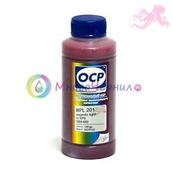 Чернила светло-пурпурные (Light Magenta) OCP для Epson Stylus Pro R2400, 4800, 4000, 7600, 7800, 7500, 7880, 9600, 9800, 9500, 10600, 3800, Light Magenta, 100 мл (MPL 201)