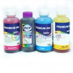 Комплект чернил для Brother DCP-195C, DCP-6690CW, DCP-145C, DCP-385C, DCP-165C, MFC-250C, DCP-585CW, DCP-375CW, MFC-J265W, MFC-290C, MFC-6890CDW, MFC-790CW, MFC-J410, MFC-255CW пигмент OCP + водные InkTec, комплект 4 x 100 мл