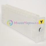 Перезаправляемый картридж (ПЗК/ДЗК) для Epson SureColor SC-T3200, SC-T3000, SC-T5200, SC-T7000, SC-T7200, SC-T5000, Yellow,  с одноразовым чипом (сменным), 700 мл, 1 штука