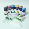Набор перезаправляемых картриджей с чернилами для Epson Stylus Photo T50, 1410, R270, TX650, R290, RX610, R390, RX690, R295, RX590, T59, TX659, RX615, TX710W, TX800FW, TX700W, RX650, TX810, RX659