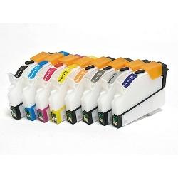 Перезаправляемые нано-картриджи Bursten Nano 2 для Epson Stylus Photo R800, R1800 (Т0540-Т0549)