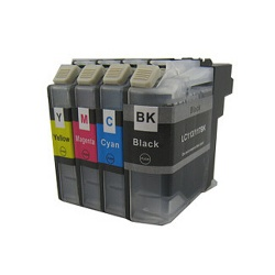 Картриджи для Brother MFC-J3520, MFC-J2310, MFC-J2510, MFC-J3720 (совм. LC563BK, LC563C, LC563M, LC563Y), неоригинальные, комплект 4 цвета