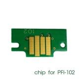 Чип для картриджей PFI-102MBK для Canon imagePROGRAF iPF605, iPF710, iPF750, iPF760, iPF765, iPF510, iPF500, iPF600, iPF610, iPF650, iPF700, iPF720, iPF655, iPF755, Matte Black (матовый черный), совместимый