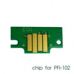 Чип для картриджей PFI-102MBK для Canon imagePROGRAF iPF605, iPF710, iPF750, iPF760, iPF765, iPF510, iPF500, iPF600, iPF610, iPF650, iPF700, iPF720, Matte Black (матовый черный), совместимый