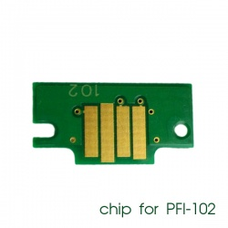 Чип для картриджей PFI-102BK для Canon imagePROGRAF iPF605, iPF710, iPF750, iPF760, iPF765, iPF510, iPF500, iPF600, iPF610, iPF650, iPF700, iPF720, iPF655, iPF755, Black (черный), совместимый
