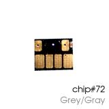 Чип для картриджей (ПЗК/ДЗК) HP 72 C9374A Gray/Gray для DesignJet T790, T795, T610, T2300, T770, T1300, T1200, T1120, T620, T1100, серый
