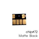Чип для картриджей (ПЗК/ДЗК) HP 72 C9403A Matte Black для DesignJet T790, T795, T610, T2300, T770, T1300, T1200, T1120, T620, T1100, матовый черный