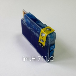 Картридж для HP Designjet T520 и T120, голубой im.H-711.С Cyan (совм. HP 711), объем 15 мл., неоригинальный imagi.me