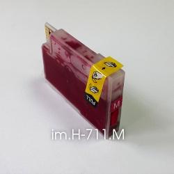 Картридж для HP Designjet T520 и T120, пурпурный im.H-711.M Magenta (совм. HP 711), объем 15 мл., неоригинальный imagi.me