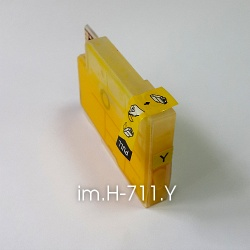 Картридж для HP Designjet T520 и T120, желтый im.H-711.Y Yellow (совм. HP 711), объем 15 мл., неоригинальный imagi.me