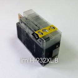 Картридж для HP Officejet OJ 6700, 6100, 6600, 7110, 7610, 7612 Black, 45 мл (2*XL) двойной объем 2000 стр, im.H-932XL.B черный (совм. HP 932, HP 932XL), неоригинальный imagi.me