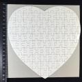 Пазл для сублимации магнитный, в форме сердца, 19x19 см, 75 деталей