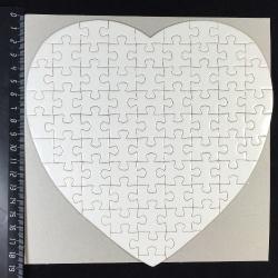 Пазл для сублимации в форме сердца, 19x19 см, 75 деталей