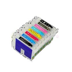 Перезаправляемые картриджи (ПЗК) для Epson Stylus Photo 2100 (T0341-T0347), 7 шт., с авто-чипами