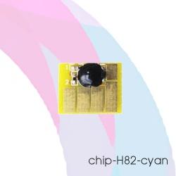 Чип для картриджей HP Designjet 510, 500, 800, 500PS, 800PS, 815MFP, 820MFP (под HP 82/C4911A), голубой Cyan, автоматически обнуляемый