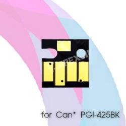 Чип для Canon PIXMA MG5340, MG5140, iP4940, iX6540, iP4840, MG5240, MX884, MX894, MX714, MG6240, MG6140, MG8240, MG8140, Pigment Black PGI-425PGBK (основной черный), авто обнуляемый для картриджей, ПЗК, СНПЧ