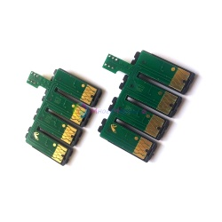 Чип для СНПЧ к Epson Stylus Photo R2000 (T1590-T1599) с кнопкой обнуления, на 8 цветов (планка чипов)