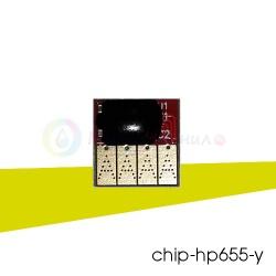 Чип Yellow 655 для ПЗК и СНПЧ для HP Deskjet Ink Advantage 3525, 6525, 4625, 5525, 4615, желтый CZ112AE