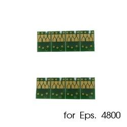 Чипы для картриджей, ПЗК и СНПЧ для Epson Stylus Pro 4800, комплект 8 штук