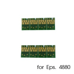 Чипы для картриджей, ПЗК и СНПЧ для Epson Stylus Pro 4880 (T6051-T6059 / T6061-T6069), комплект 8 штук