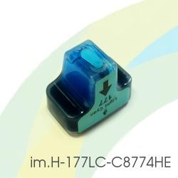 Картридж для HP Photosmart C5183, C6283, D7163, 8253, D7263, C7283, 3213, D7463, 3313, D7363, C6183, C8183, C7183, im.H-177LC-C8774HE (HP177) Light Cyan, совместимый, светло-голубой