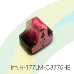 Картридж для HP Photosmart C5183, C6283, D7163, 8253, D7263, C7283, 3213, D7463, 3313, D7363, C6183, C8183, C7183, im.H-177LM-C8775HE (HP177) Light Magenta, совместимый, светло-пурпурный
