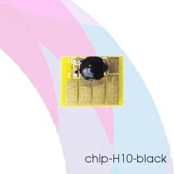 Чип для картриджей HP Designjet 500, 100, 110, 70, 800, 800PS, 815, 820 (под HP 10/C4844A), чёрный Black, автоматически обнуляемый