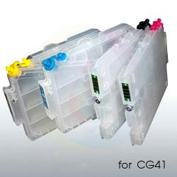 Перезаправляемые картриджи (ПЗК) для Ricoh Aficio SG2100, SG2100L, SG2100N, SG3110DN, SG3110DNW, SG3110SFNW, SG3100, SG3100SF, SG3100SNW, SG2010L, SG2010N, SG3120SF, SG7100, SG7100DN (для CG41), 4 шт, с авто чипами