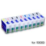 Перезаправляемые картриджи увеличенного объема (ПЗК/ДЗК) для Epson Stylus Photo R3000 (T1571-T1579), с авто-чипами, 9 шт по 25 мл