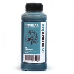 Чернила для заправки картриджей Epson, черные (Black), водные, Pushkink, 100 мл