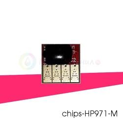 Чип красный (magenta) на картридж № 971 для HP OfficeJet PRO x451dw, x576dw, x476dw, x551dw, x476dn, x451dn, совместимый