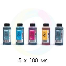 Чернила для Canon PIXMA MG5340, MG5140, iP3600, MP550, MP540, iP4200, MG5240, iP4940, iP4500, iP4300, iP5200, iP4840, iP4600, MP630, iP4700, MP600, iX6540, MP560, MP640 (PGI-5, PGI-425, PGI-520, CLI-8, CLI-426, CLI-521), Pushkink водные, комплект 5х100 мл