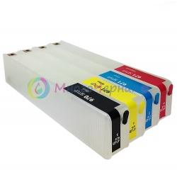 Перезаправляемые картриджи (ПЗК) для HP OfficeJet PRO x451dw, x576dw, x476dw, x551dw, x476dn, x451dn (под оригиналы 970/971) с чипами, черный картридж - 85 мл