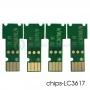Чипы для LC3617, LC3619XL для картриджей Brother MFC-J3930DW, MFC-J3530DW, одноразовые, набор 4 цвета